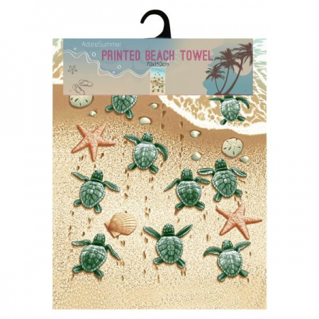 Turtle microfibre beach towel