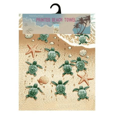 Turtle microfibre beach towel