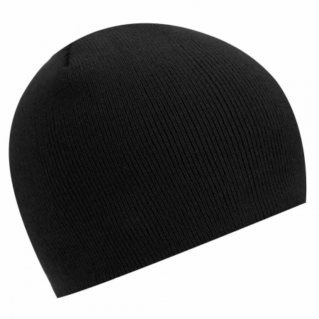 RIBBED FASHION BEANIE HAT, (BLACK)