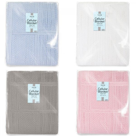 100% COTTON CELLULAR BLANKET (60X90CM)