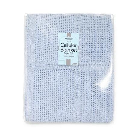 100% COTTON CELLULAR BLANKET (60X90CM)