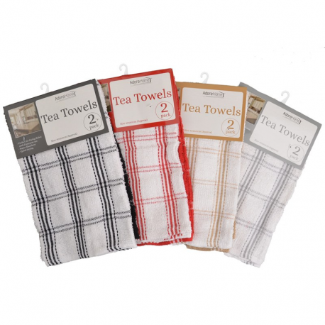 2 PACK TEA TOWEL (COUNTRY CHECK)