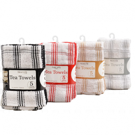 5 PACK TEA TOWEL (COUNTRY CHECK)