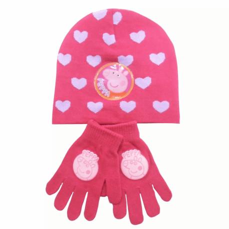 PEPPA PIG HAT AND GLOVE SET