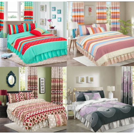 SINGLE PRINTED DUVET SET ASSORTED