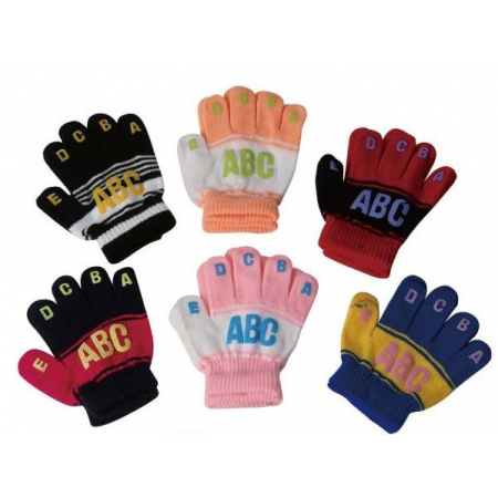 KIDS ALPHABET GLOVES