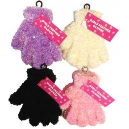 GIRLS FEATHER TOUCH GLOVES