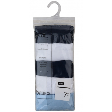 5 PACK BOYS COTTON BOXER SHORTS (ASSORTED SIZES)