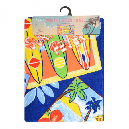 MICROFIBRE BEACH TOWELS 70X140CM (CAMPERVAN)