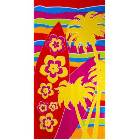 MICROFIBRE BEACH TOWELS 70X140CM (SURF BOARDS)