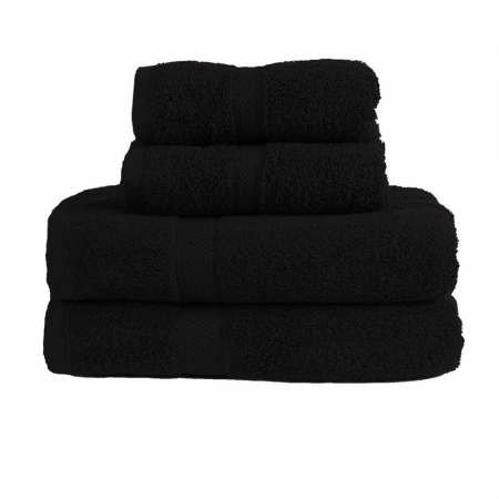 480GSM COMBED HAND TOWEL (BLACK)