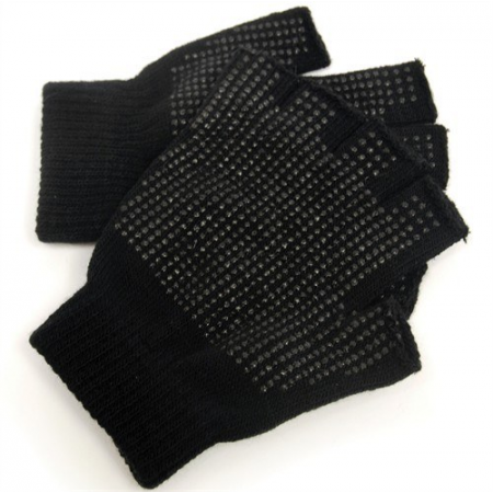 FINGERLESS BLACK MAGIC GRIPPER GLOVES