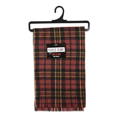 TARTAN CHECK SCARF (BROWN)