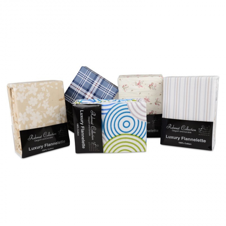 KING FLANNELETTE SHEET SET (PRINTED)
