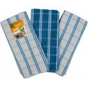 3PK AMERICAN CHECK TEA TOWELS
