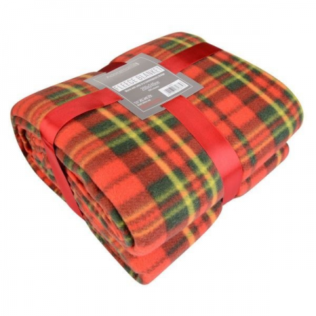 FLEECE BLANKET 200X240CM CHECK - 5 COLOURS