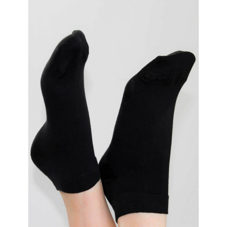 3PK LADIES TRAINER SOCKS (BLACK)