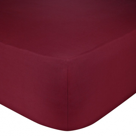 SINGLE FITTED SHEET (RUST RED)