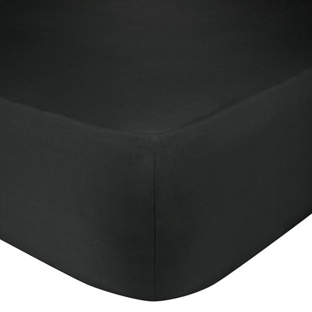 SINGLE FITTED SHEET (BLACK)