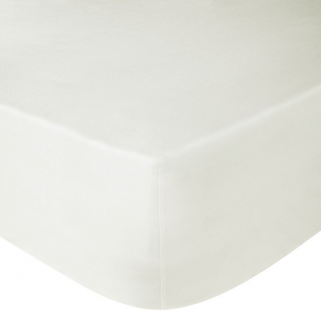 DOUBLE FITTED SHEET (CREAM)