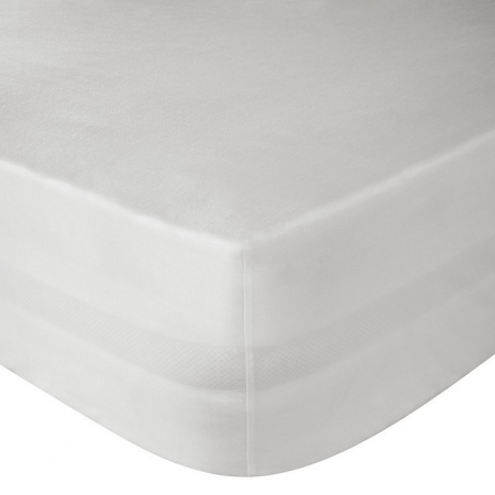 DOUBLE FITTED SHEET (WHITE)