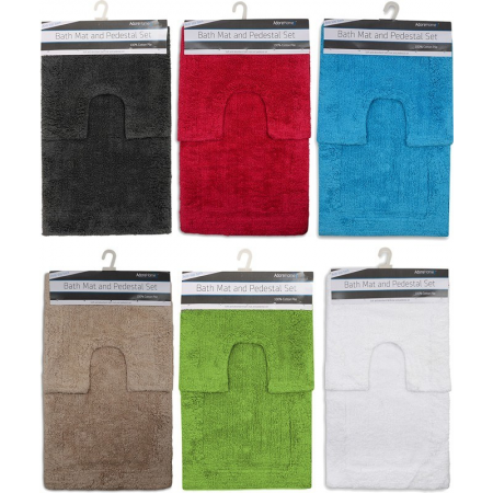 2PC ANTI SLIP BATH MAT - ASSORTED OR 10 BLOCK COLOURS