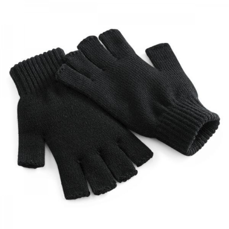 FINGERLESS THERMAL GLOVES, BLACK