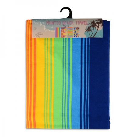 MICROFIBRE BEACH TOWELS 75X140CM (STRIPES)