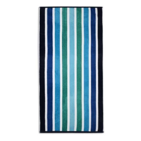 VELOUR STRIPED BEACH TOWEL 75X150CM (DESIGN 30)