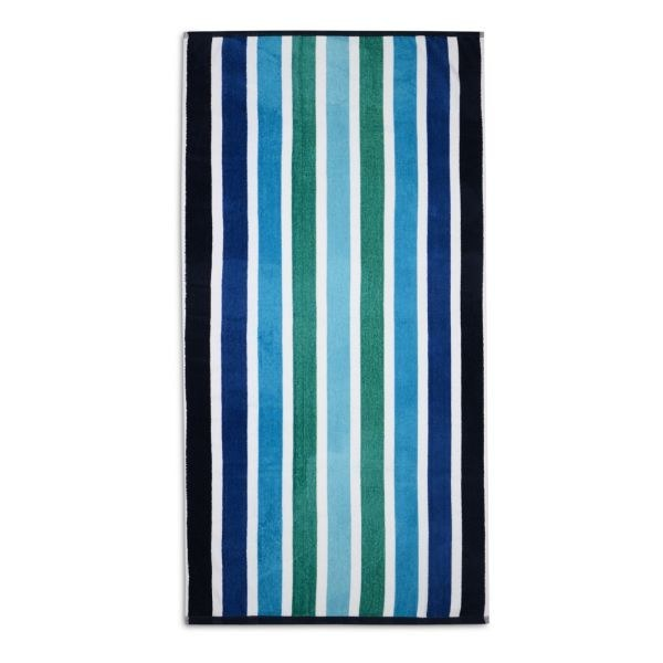 Wholesale Velour Striped Beach Towels In 75x150cm