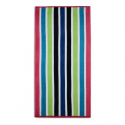VELOUR STRIPED BEACH TOWEL 75X150CM (DESIGN 31)