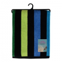 VELOUR STRIPED BEACH TOWEL 75X150CM (DESIGN 28)