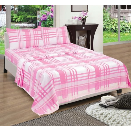 KING FLANNELETTE SHEET SET (CHECK)