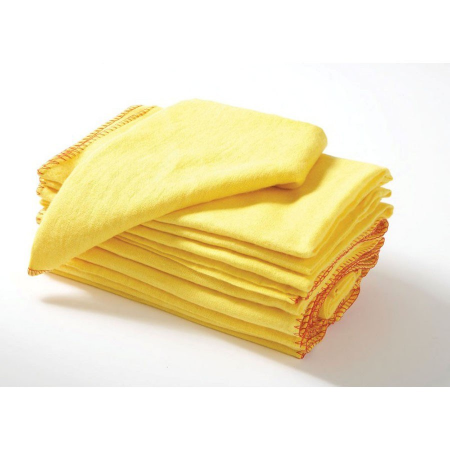 10 PACK ROLLED YELLOW DUSTERS